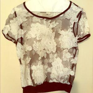 Short Sleeve See-Through Shirt